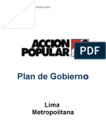 Plan de gobierno Acción Popular