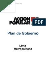 Plan de gobierno Acción Popular