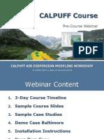 Pre-Webinar Lakes MARAMA CALPUFF Course Apr 2014 V2 6