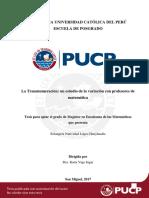 López Huayhualla Transnumeración Estudio Variación