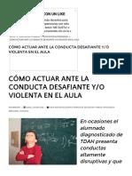 Cómo Actuar Ante La Conducta Desafiante Yo Violenta en El Aula – Web Del Maestro Cmf