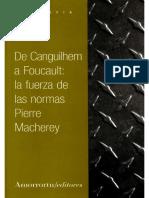 Macherey - De Canguilhem a Foucault, La Fuerza de Las Normas