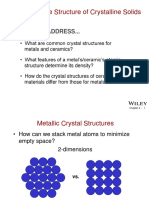 Structure of Crystalline Solid