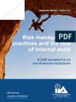 Risk Management Practices and the Role of Internal Audit
