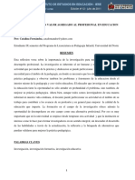La Investigacion Un Valor Agregado Al Profesional en Educación