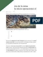 Ampliación de La Mina Toquepala Inicia Operaciones El 2018