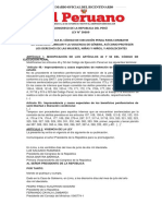 Congreso de La Republica Del Perú LEY 30609