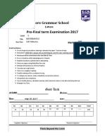 Pre-paper Maths 5