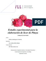 Estudio Experimental Para La Elaboracion de Licor de Pitaya