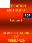 RMM Lecture 3 Classification of Research