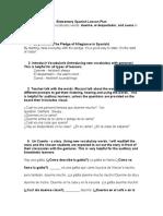 grad school 6th grade lesson plan