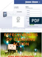 Effectiveness of Cleaning Action (Chemistry)