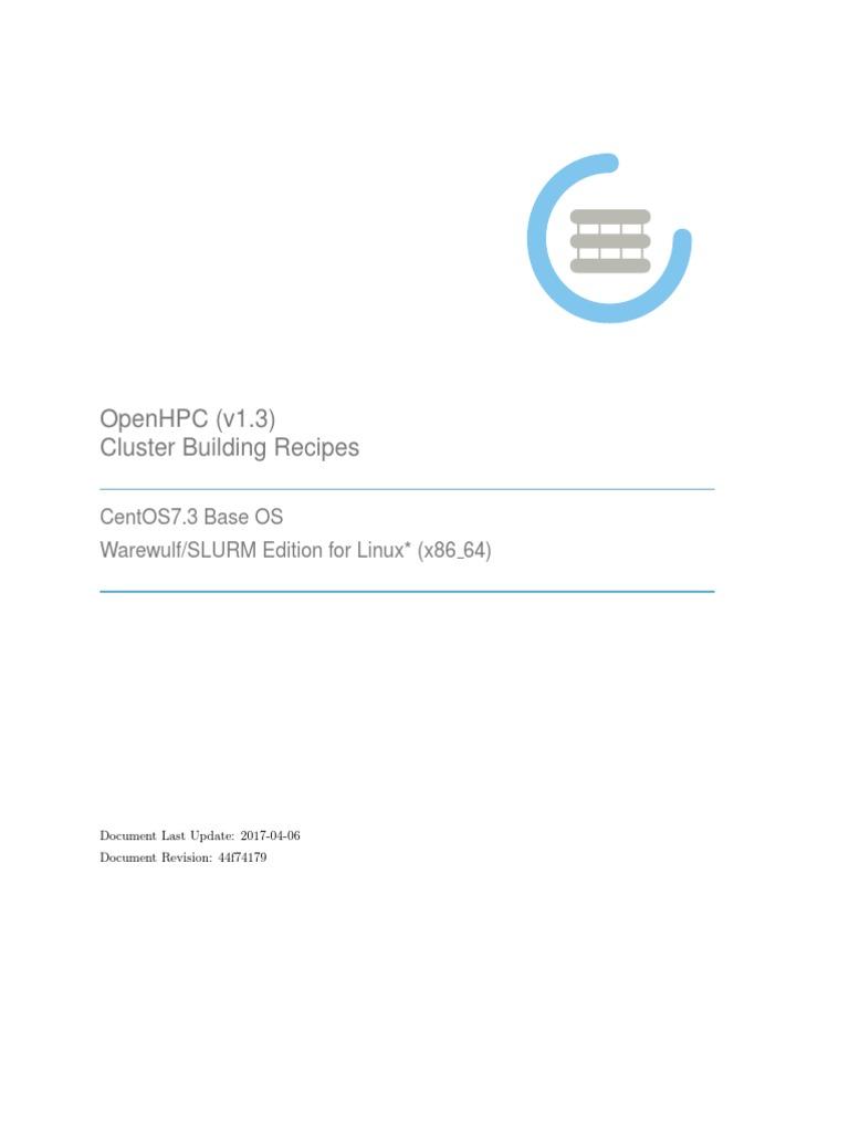 Install_guide-CentOS7-SLURM-1 3-x86_64 | Computer Network