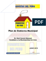 Plan de gobierno Fonavistas del Perú
