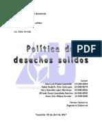 Analisis Politica de Desechos Solidos