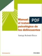 Manual Para El Tratamiento Psicologico de Los Delicuentes