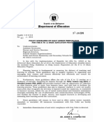 Enclosure to DepEd Order No 42 S 2016