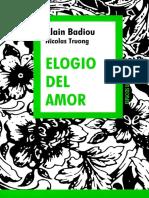 Badiou, Alain & Truong, Nicolas - Elogio Del Amor [35422] (r1.0)