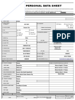CS Form No. 212 Revised Personal Data Sheet Sample Form