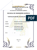 Informe de Laboratorio de Cristalizacion Del Sulfato de Cobre