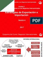 SESIÓN 4 Estrategias de Exportación e Importación 2017