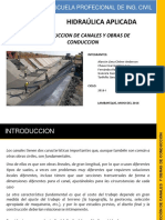 Construcción de Canales y Obras de Conducción