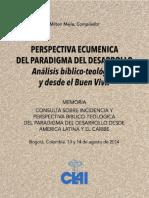 PERSPECTIVA ECUMENICA Paradigma Del Desarrollo Analisis Biblico Teologico y Del Buen Vivir Clai
