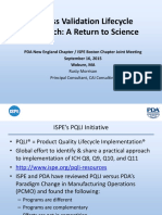 Process Validation Lifecycle Approach a Return to Science Pt 2