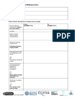 Example of Employment Reference Form