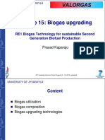 (15) Biogas Upgrading