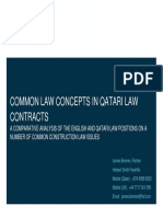 Common Law Concepts in Qatari Law Contracts (RICS)