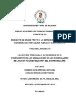 """La cultura tributaria y su incidencia en el cumplimiento de las obligaciones en los comerciantes de la bahía """"Mi Lindo Milagro"""" del Cantón Milagro..pdf"""