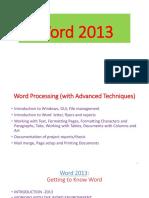 Word 2013 Presentation