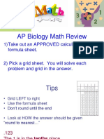 AP Biology Math Review