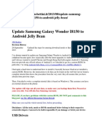 Update Samsung Galaxy Wonder I8150 to Android Jelly Bean