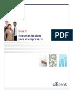 7. Recursos basicos para el empresario