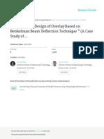 Mechanistic Design of Overlay Based on Benkelman Beam Deflection Technique