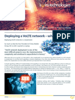 Deploying a VoLTE network - Whitepaper