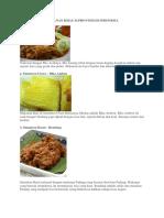 Makanan Khas 34 Provinsi Di Indonesia
