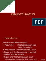 Industri Kapur