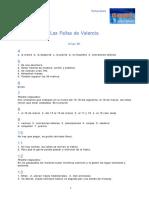 B1 Las Fallas de Valencia Soluciones