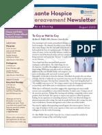 Asante Hospice Bereavement Newsletter Aug 2010