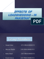 Effects of Load Shedding in Pakistan(Po)