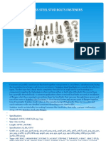 Stainless Steel Stud Bolts Fasteners