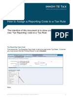 Innovate Tax How to Assign a Reporting Code to a Tax Rule