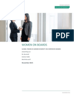 Global Trends in Gender Diversity on Corporate Boards Research Insight