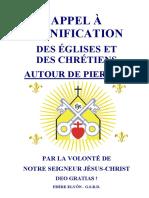 Appel a l Unification Des Eglises Autour de Pierre II