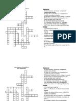 Crucigrama 1