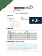 Plan de Tutoria Institucional II.ee