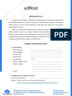 Formulir Pendaftaran Beasiswa IDCluodHost